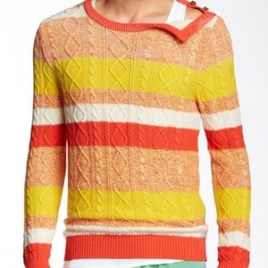 Scotch & Soda Color Block Striped Crewneck Sweater